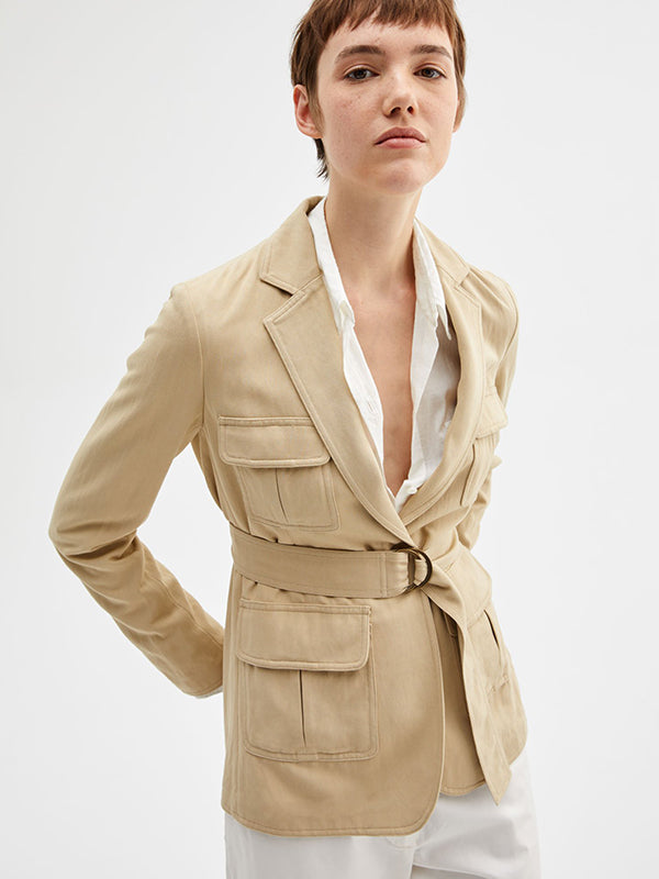 Nili Lotan Hunt Jacket in Kahki