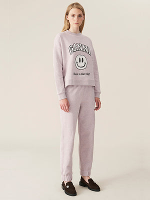Ganni Isoli Sweatpant in Lilac