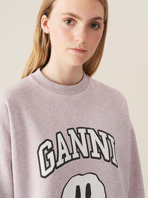 Ganni Isoli Sweatshirt in Pale Lilac