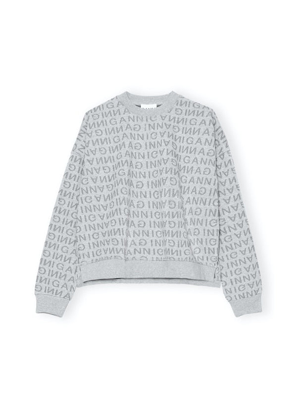 Ganni Drop Shoulder Sweatshirt in Paloma Melange