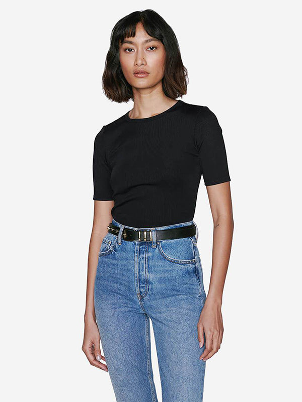 Anine Bing Jean Top in Black