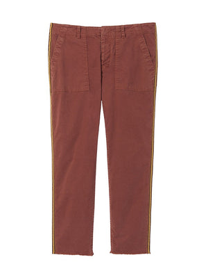 JENNA PANT WITH TAPE IN RUST