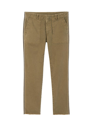 Jenna Pant in Sage with Black/White Tape