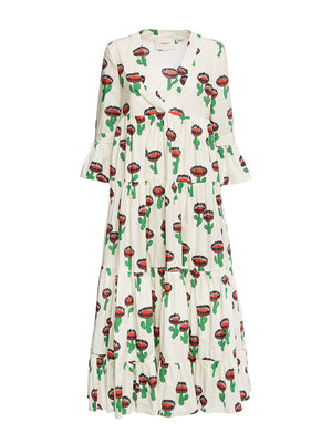 Jennifer Jane Dress in Chirpy Cactus