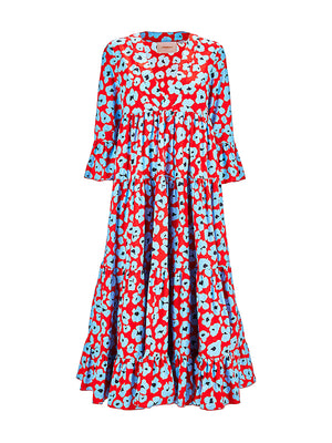 Jennifer Jane Dress in Flower Leopard
