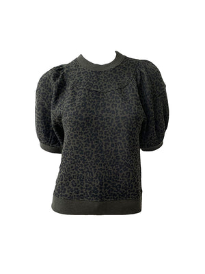 Jessa Pullover in Forest Leopard