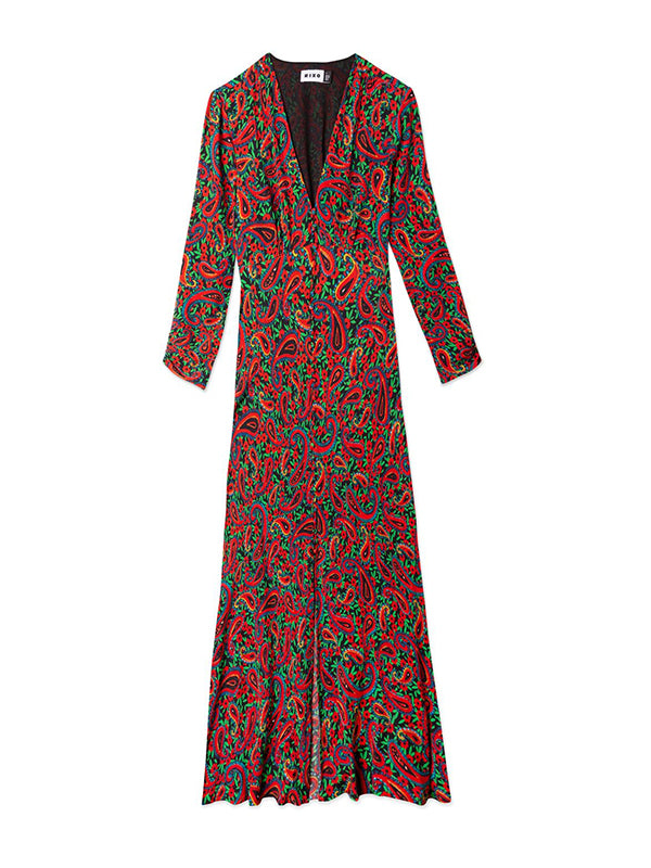 Rixo London Katie Dress in Flower Paisley