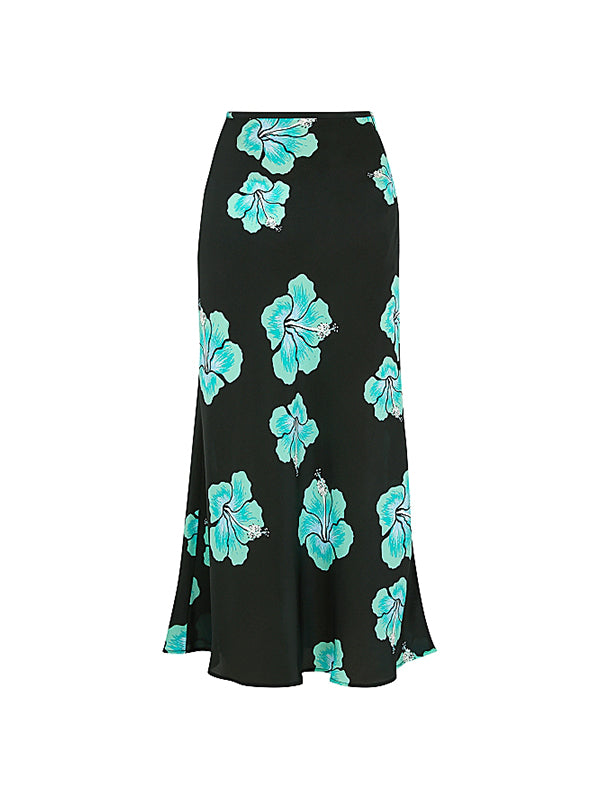 Kelly Skirt in Abstract Hawaiian Flower