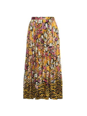 Kim Skirt in Saffron Cloud Tiger