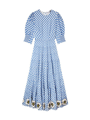 Kristen Dress in Big Gingham Navy