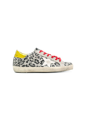 LEOPARD SUPERSTAR SNEAKERS WITH GOLD HEEL