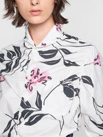 Marni L/S Floral Print Shirt in White