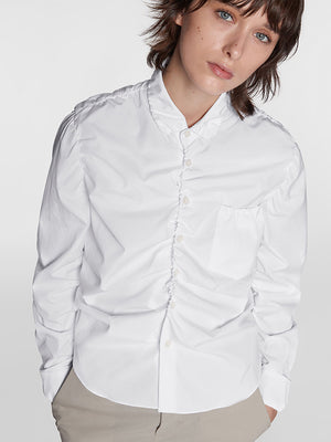 Marni L/S Polo Neck Shirt in White