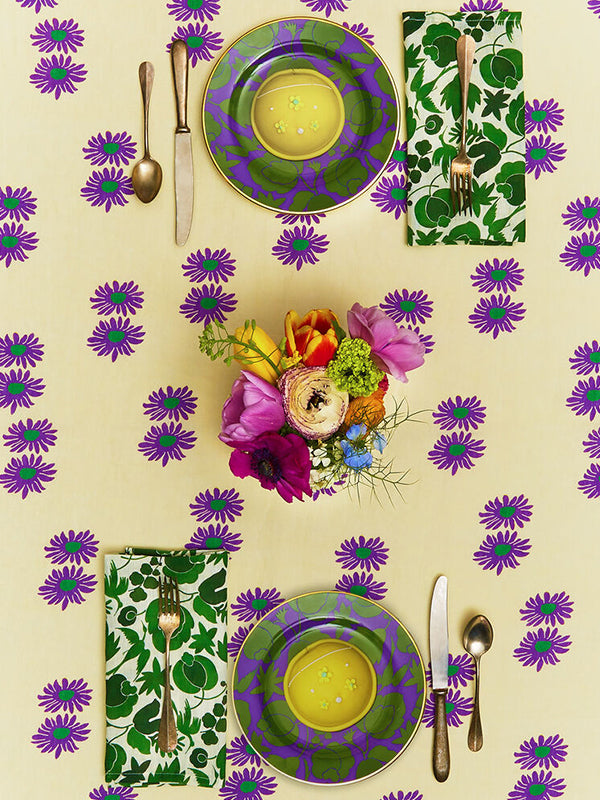 Large Napkins Set of 6 (45x45) in Wildbird Verde Small