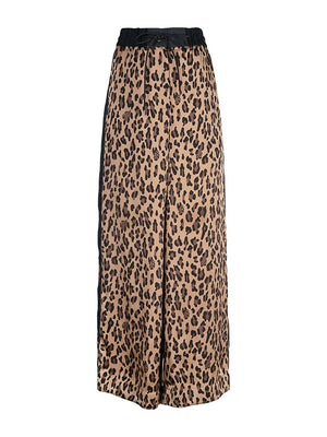 Satin Leopard Pants
