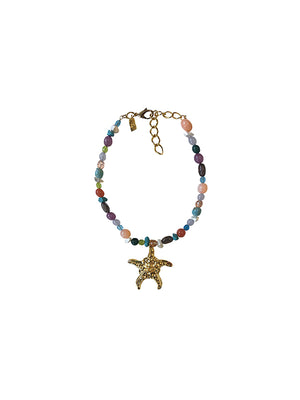 Starfish Multi Gem Necklace