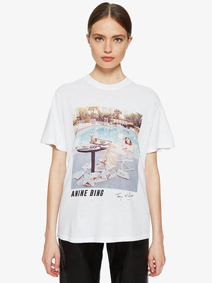 Anine Bing Lili Tee AB x TO F in White