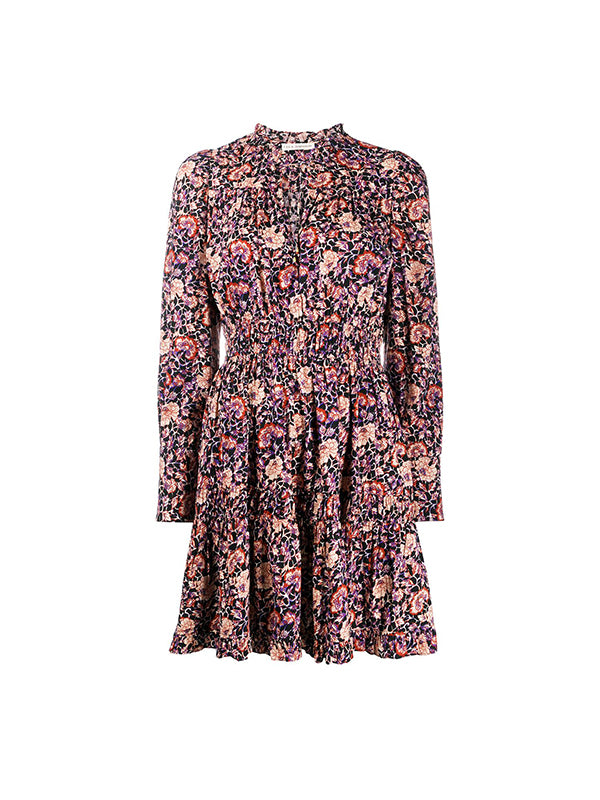 Ulla Johnson Liv Dress in Midnight Floral