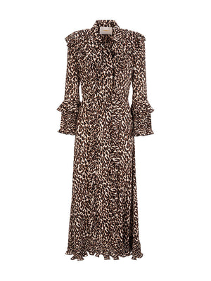 Long Fancy Dress in Leopard