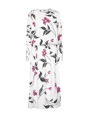 Floral cotton poplin midi dress