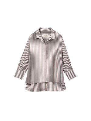 Lonnie Shirt in Brown Stripe