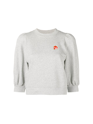 PUFF SWEATSHIRT COTTAGE IN PALOMA MELANGE