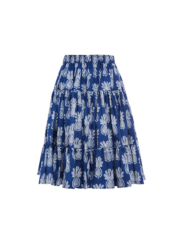 La DoubleJ Love Skirt in Pineapple Blue