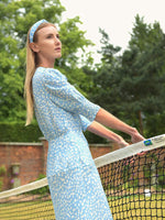 Rixo London Lucile Dress in Buttercup Floral Dusk Blue White