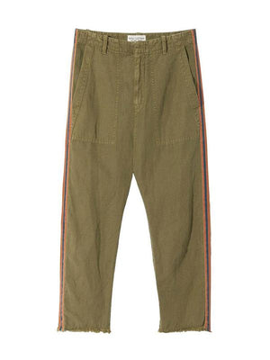 Luna Pant in Uniform Green w/ Orange/Navy Tape