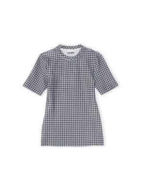 Lurex T-Shirt in Brunnera Blue