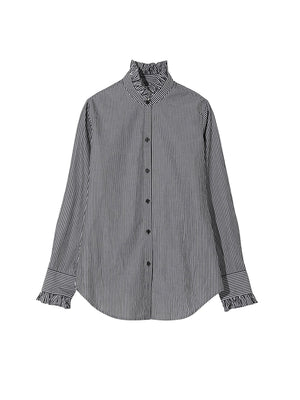 Lydia Shirt in Bold Black Stripe
