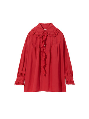 MAI SHIRT IN VERMILION RED