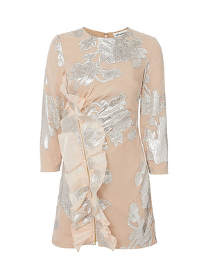 METALLIC COUPE MINI DRESS