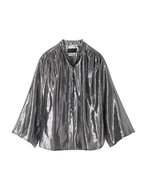 MARLAINA BLOUSE IN SILVER