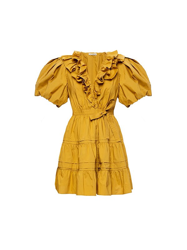 Maude Dress In Tobacco