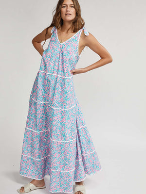 May Gibbs Tiered Maxi Dress in Wattle