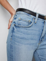 Nili Lotan Mid Rise Jean in Light Blue
