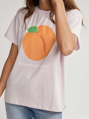 Binny Million Dollar Peach T-Shirt in Pink