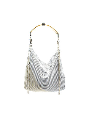 Hand Strap Bag in White