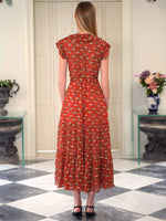 Rixo London Minnie Dress in Garden Party Red
