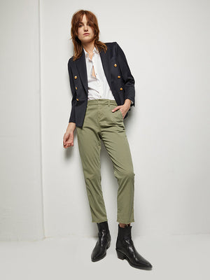 Nili Lotan Montauk Pant in Military Green