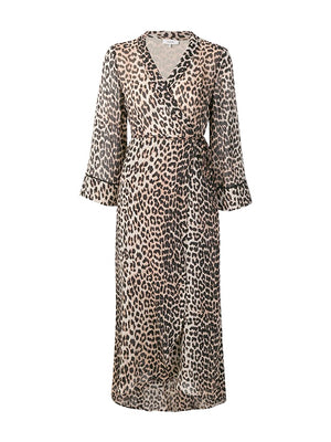 Mullin Georgette Dress in Leopard