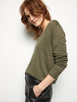 Nili Lotan Muriel Sweater in Army Green