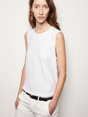 Muscle Tee in White