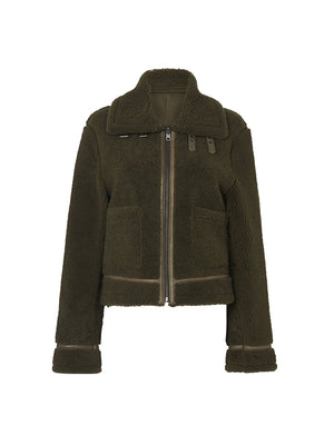 NOMAD BOMBER REVERSIBLE IN ALOE GREEN