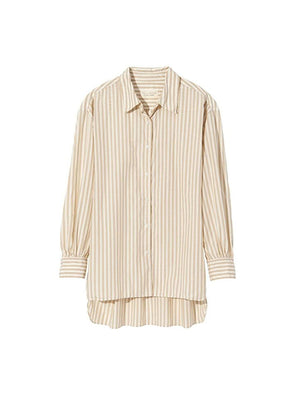 Noa Shirt in Tan Stripe