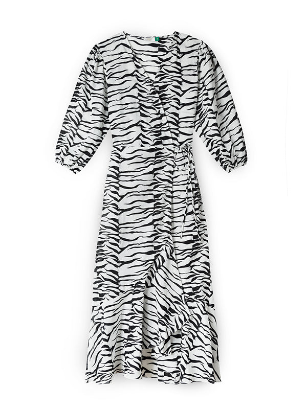 Noleen Beach Cover up in Mono Tiger
