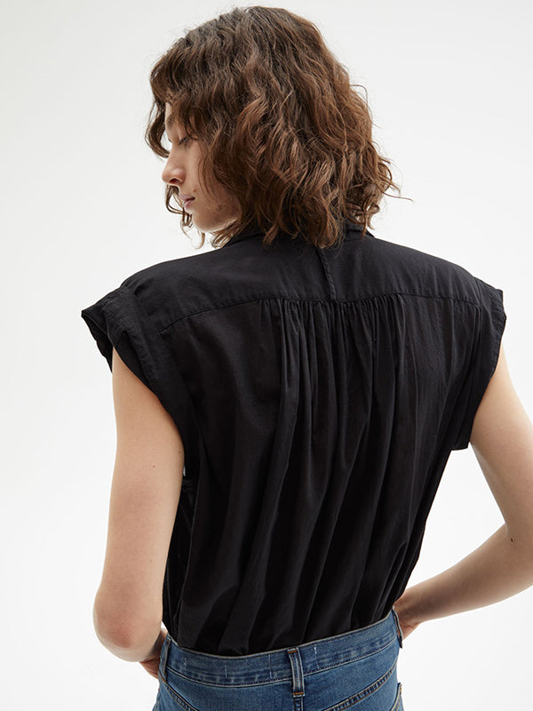 Nili Lotan Normandy Blouse in Black