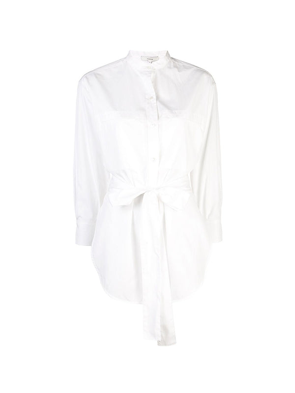 Oversize Belted Shirt in White