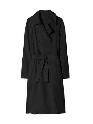 Oliver Trench Coat in Jet Black